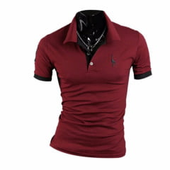 Camisa polo masculina slim fit